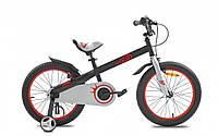 Детский велосипед 18 Royal Baby Honey Steel черный, фото 1