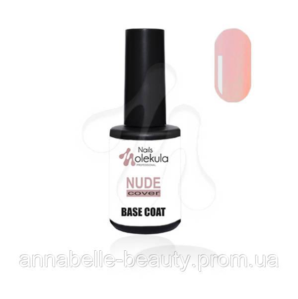Base coat nude cover - Каучуковая база с бежево-розовым оттенком 12мл