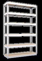 310х160х60, Стеллаж 5 полок ДСП/МДФ 400 кг на полку полочный оцинкованный металлический на склад, фото 4