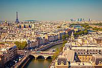"Печать на обоях ""Вид на Париж"""
