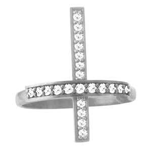 Кольцо мужское серебряное Крест
