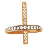 Кольцо мужское серебряное Крест, фото 2