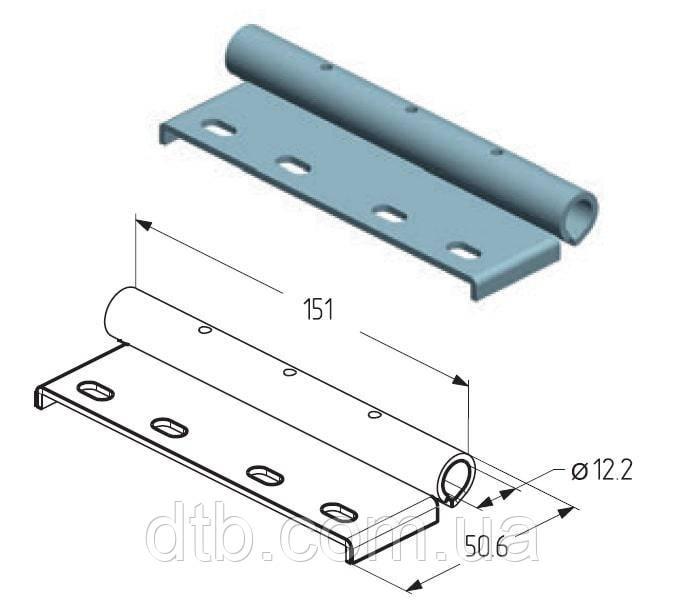 Накладка роликовая верхняя RP-40.125 Alutech