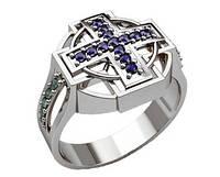 Печатка серебряная Крест