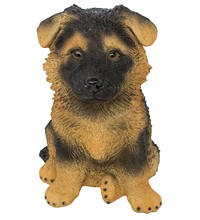 Статуэтка (копилка) собака щенок немецкой овчарки цветной