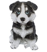 Статуэтка (копилка) собака щенок Хаски цветной