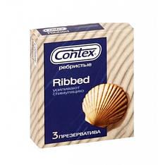 """Презервативы Contex (Контекс) """"Ribbed"""" 3шт"""