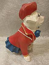 Статуэтка собака Мопс в красной шляпе, фото 2