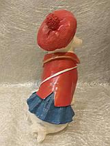 Статуэтка собака Мопс в красной шляпе, фото 3