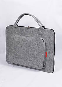 Чехол-сумка универсальная из войлока для Macbook Air.Pro 13.3. Grey (4582)