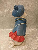 Статуэтка собака Мопс в синей шляпе, фото 3