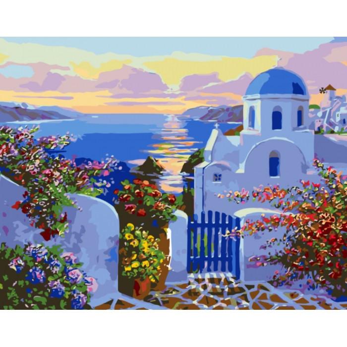 """Картина по номерами Пейзаж """"Средиземное море"""" 40х50 см"""