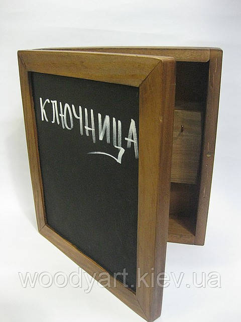 Ключница деревянная меловая, ключница с меловой доской
