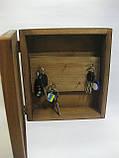 Ключниця дерев'яна крейдяна, ключниця з крейдяної дошкою, фото 2