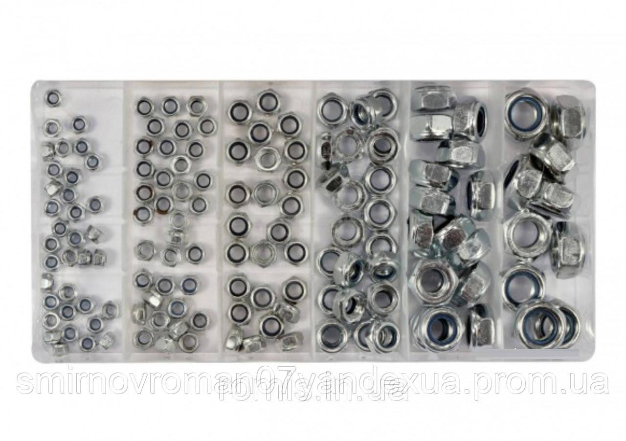 Гайки М4- М10 самозатисні YATO в пластиковій коробці; наб. 146 шт.