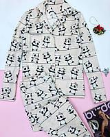 Фланелевая байковая женская Пижама.Комплект для сна и дома. Жіноча піжама
