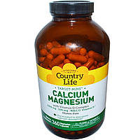 Кальций магний (Calcium Magnesium) с витамином Д3, Country Life, 360 капсул