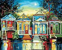 Художественный творческий набор, картина по номерам Цветные домики, 50x40 см, «Art Story» (AS0372), фото 1