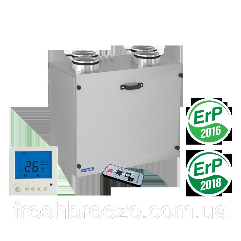 Вентиляційна установка з утилізацією теплової енергії для холодного клімату Vents ВУТ 300 Э2В ЄС