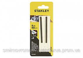 Набір ножів для рубанка STANLEY (тип TCT) Ø=5,5x82x1,1мм, 2шт.