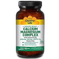 Кальций магний (Calcium Magnesium) с витамином Д3, Country Life, 90 таблеток