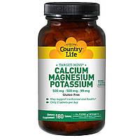 Кальций магний (Calcium Magnesium) с витамином Д3, Country Life, 180 таблеток