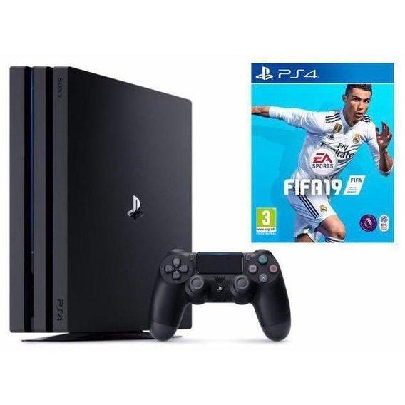 Игровая приставка Sony PlayStation 4 Pro 1TB + FIFA 19 - Интернет-магазин  Online- bb749af9fa3c6