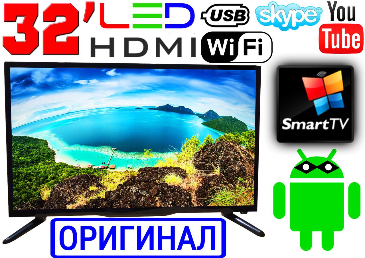 "Германия! 4K LED телевизор 32"" UHDTV,SmartTV, IPTV, Android, T2, WIFI, USB, ОРИГИНАЛ"
