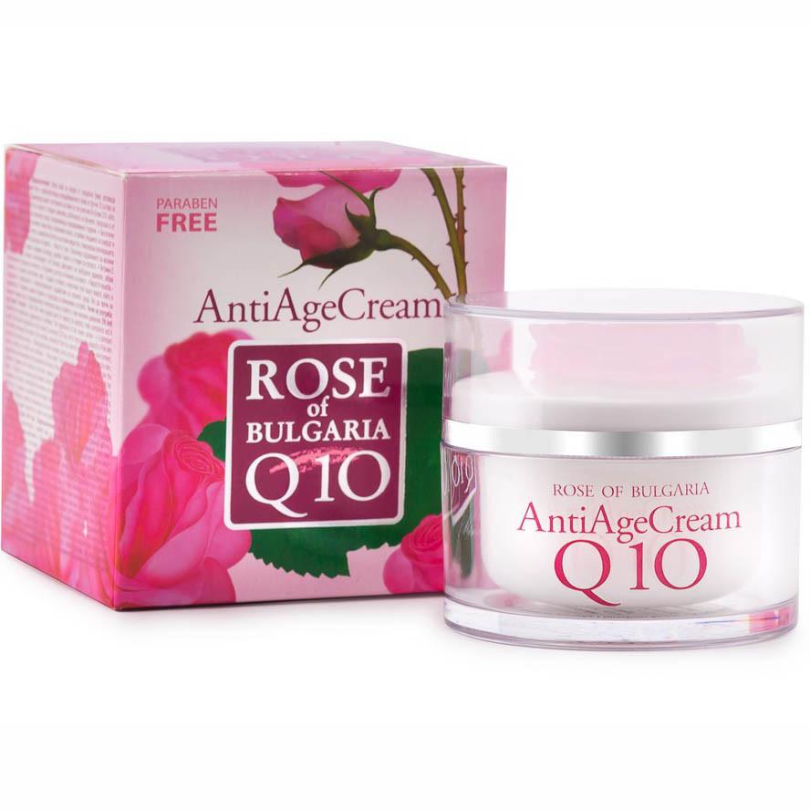 Антивозрастной крем для лица с коэнзим Q10 Rose of Bulgaria, 50 мл