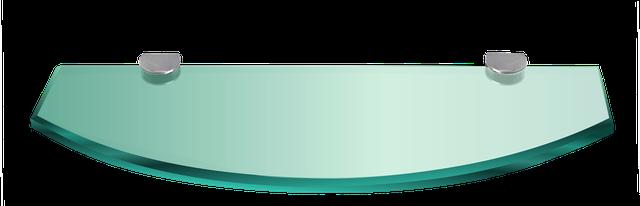 Полочки из стекла готовые с креплениями