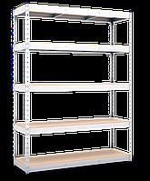 165х160х50, Стеллаж  4 полки ДСП/МДФ 300 кг на полку полочный оцинкованный металлический на склад гараж подвал, фото 2