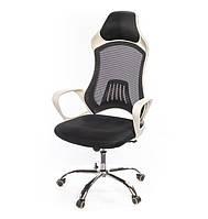 Кресло офисное на колесиках Дорос CH ANF черного цвета из ткани