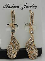 Серьги. Позолота- женские ювелирные украшения. 194