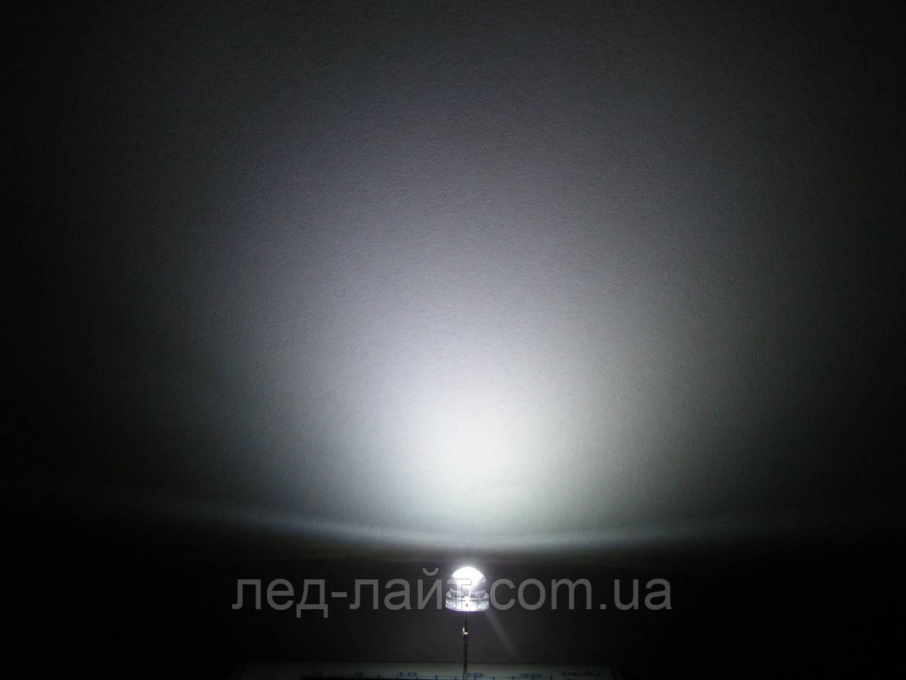 Светодиод 4.8мм белый (холодный) прозрачный 120 градусов - фото 3