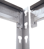 240х180х50, Стеллаж 5 полок ДСП/МДФ 300 кг на полку полочный оцинкованный металлический на склад, фото 2