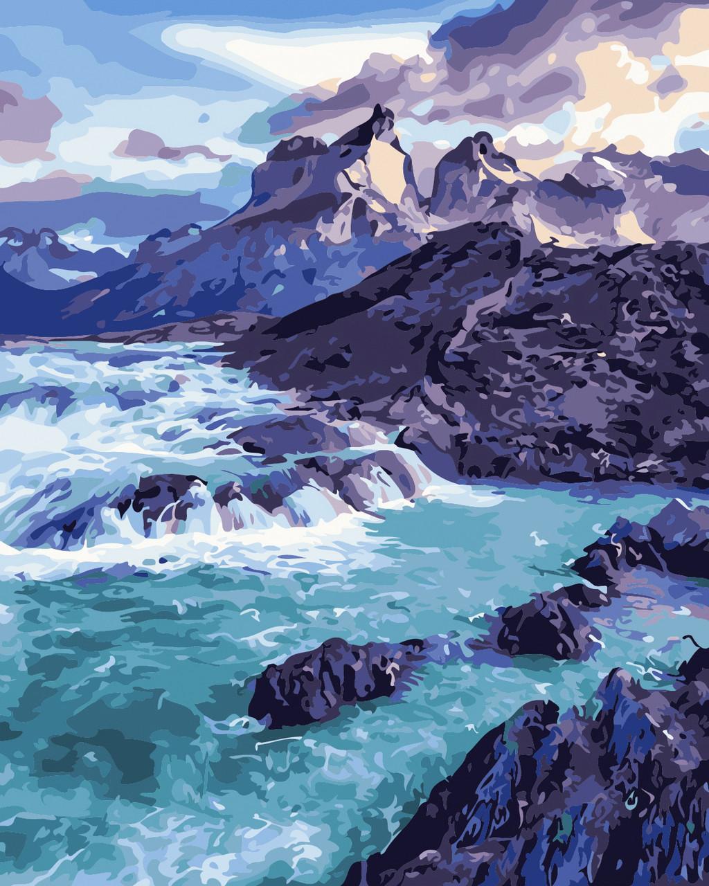 Художественный творческий набор, картина по номерам Прибрежные скалы, 40x50 см, «Art Story» (AS0375)