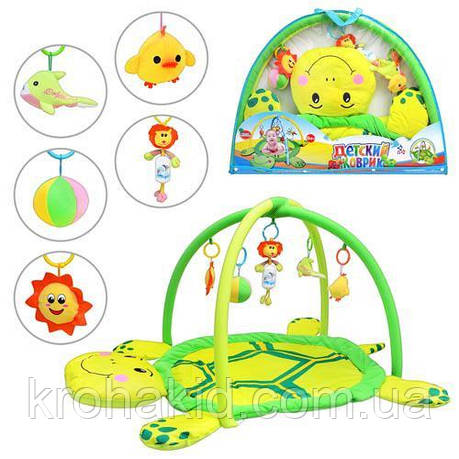 Килимок для немовляти 898-12 B/0228-1 R у вигляді забавної черепахи, фото 2