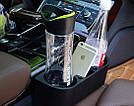 Двойной подстаканник в машину, держатель для напитков (черный), фото 2