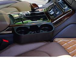 Двойной подстаканник в машину, держатель для напитков (черный)
