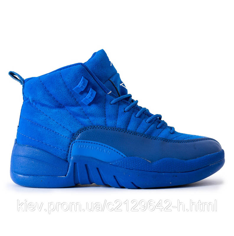 Кроссовки Nike Air Jordan 12 Blue мужские синие 51b7ef77dc020