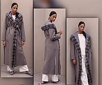 Пальто женское с капюшоном, индпошив