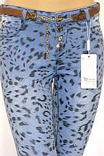 Женские джинсы принт леопард заниженая талия, фото 2
