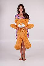 М'яка іграшка ведмедик Рафік 80 см, карамель\світло-коричневий
