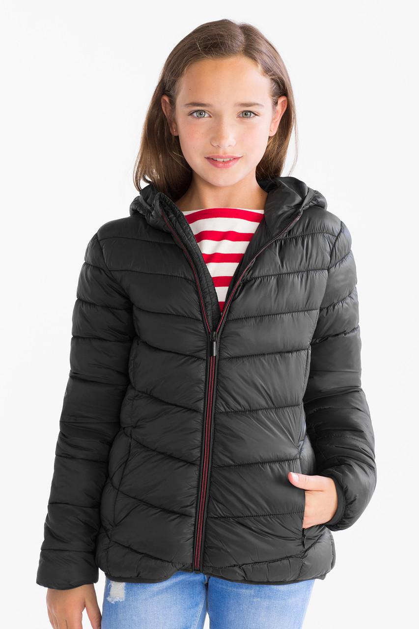 Демисезонная куртка для девочки черная C&A Германия Размер 146