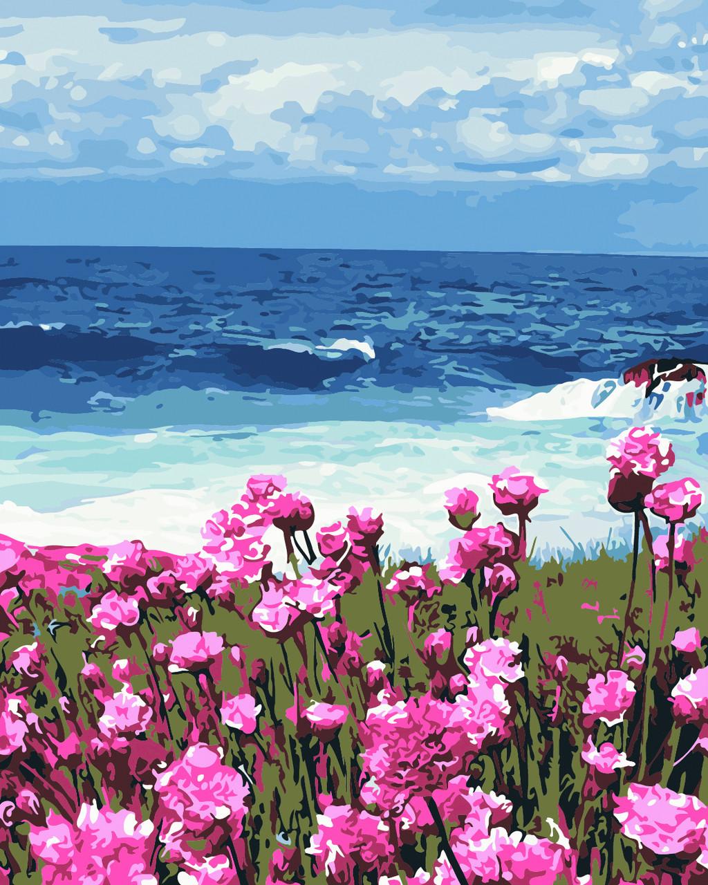 Художественный творческий набор, картина по номерам Цветы у моря, 40x50 см, «Art Story» (AS0380)