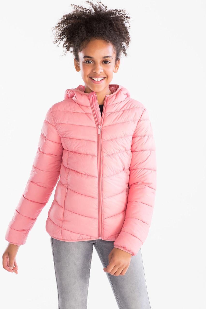 Демісезонна куртка для дівчинки рожева C&A Німеччина Розмір 134