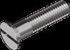 Винт с потайной головкой и прямым шлицем, сталь кл. пр. 4.8 БП DIN 963
