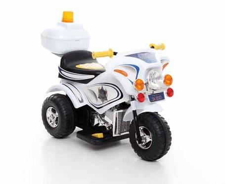Детский электромобиль,мотоцикл Police,белый,, фото 2