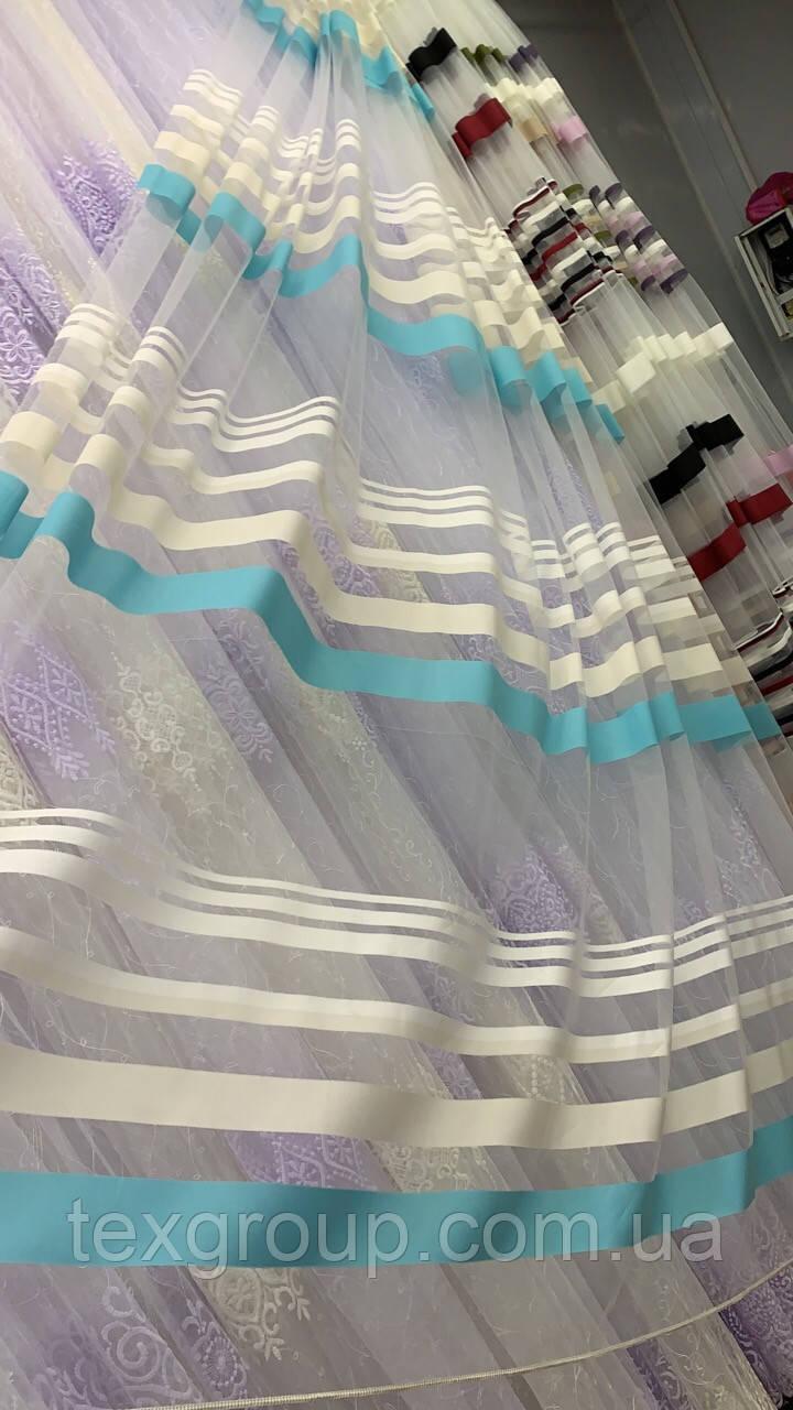 Фатиновая тюль цветные полосы