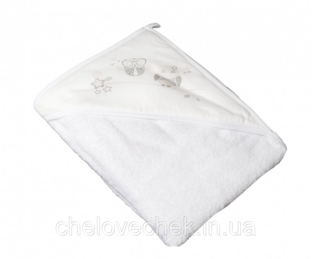Полотенце махра Tega Сова SO-007 white 100*100 см